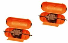 2x Splashproof Extension Lead Plug Socket Safety Cover Housing Outdoor Garden