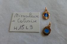 lot 2 belle médaille ajourée fab FRANCE 1960 VIERGE MIRACULEUSE 15 X 9 mm