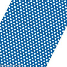 5ft ROLL BLU bianco Polka Dot Spot Stile PARTY REGALO CARTA DA PACCO