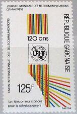 GABON GABUN 1985 935 586 World Telecommunications Day 120th Ann ITU MNH