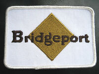 "BRIDGEPORT EMBROIDERED SEW ON ONLY PATCH UNIFORM 4"" x 2 3/4"""