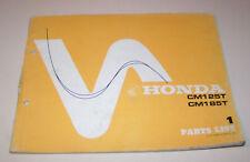 Parts List Honda CM 125 T / CM 185 T - Edition 1977!