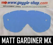 Goggle-shop Lente De Repuesto Para Spy Alloy targa2 Motocross Mx Goggles tinte azul
