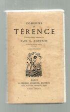 Comédies de TERENCE tome II Alphonse Lemerre 1887 TBE