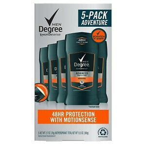 5-Pack DEGREE MEN 48HR Protection ADVENTURE w/ MotionSense Technology ~ 13.5 oz
