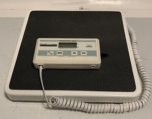Health O Meter Professional Digital Medical Scale 400 lb 349KLX TESTED AND WORKS