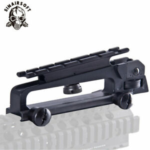 Carry Handle with Rear Sight, Aluminum, Matte Black Combo Mount Hunting Parts