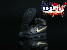 "1/6 Men Shoes Nike Air Sneakers Black For 12"" Hot Toys Phicen Male Figure ❶USA❶"
