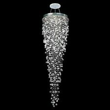 Modern LED Crystal Raindrop Staircase Chandelier Pendant Lighting Lamp Luxury #p