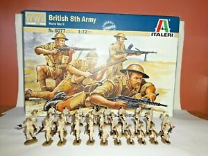 PAINTED SOLDIERS 1/72 20mm - BRITISH 8th ARMY INFANTRY - WORLD WAR 2x 30 ITALERI