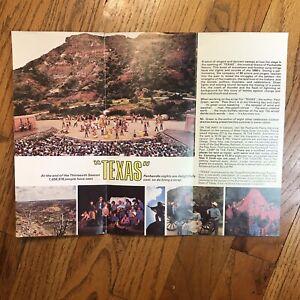 Travel Brochure TEXAS Outdoors Musical Drama Palo Dura Canyon Park vintage