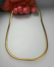 "10K SOLID GOLD 20"" Awesome Diamond Cut Herringbone Link Chain Necklace NEW"