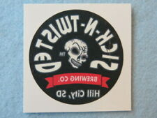 Beer Temporary Tattoo Sticker ~ SICK N' TWISTED Brewing Co ~ Hill City, S DAKOTA