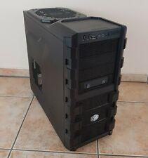 Cooler Master Midi Tower Computergehäuse mit 3 Lüfter ATX HAF912 Schwarz