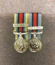 OSM Afghanistan And Op Shader OSM Iraq&Syria Mounted Miniature Medals Brand New