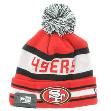 SAN FRANCISCO 49ERS BEANIE NWT NEW ERA POM KNIT JAKE 3 NFL RED ONE SIZE (T2)