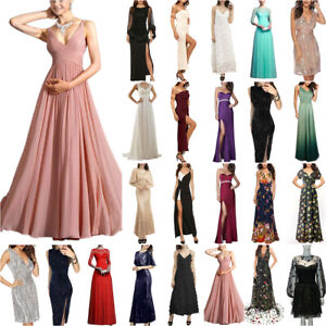 Womens Maxi Long Dress Cocktail Evening Party Wedding Bridesmaid Gown Ball Prom