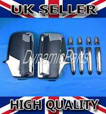 VW CRAFTER MERCEDES SPRINTER CHROME WING MIRROR COVERS + 4 DOOR HANDLE COVERS