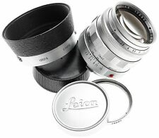 SERVICED LEICA SUMMILUX 1:1.4/50mm CHROME LENS HOOD FILTER FAST FITS M240 f=50mm
