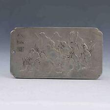 Tibet Silver Handwork Carved Eight Immortals Brand