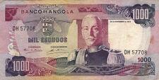 BILLET BANQUE ANGOLA 1000 escudos 1972 état voir scan 708