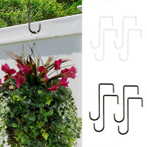 4pcs For Bird Feeder Outdoor Garden S Shaped Hanging Hooks Flower Pot Balcony