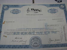 OLD CANCELED STOCK CERTIFICATE N M C Corp. 1974