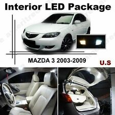 White LED Lights Interior Package Kit for Mazda 3 2003-2009 ( 6 Pcs )