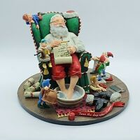 The Danbury Mint Santa Claus Twas The Day After Christmas Sculpture Statue EUC