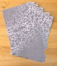 Filofax A5 Organiser Planner - Gorgeous Silver Dividers - Fully Laminated