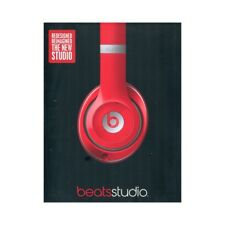BEATS by dr.dre THE NEW STUDIO RED cuffie GARANTITE ORIGINALI x DJ iPad iPhone