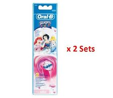 Braun Oral-b Eb10 Disney Princess Stages Replacement Brush Heads- 2 sets/4 heads
