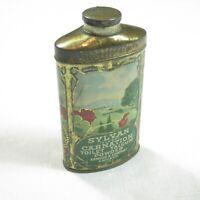 Antique 1910s Sylvan Carnation Talcum Powder Tin Litho Talc Advertising Armour
