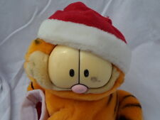 "Dakin United Features Garfield Comic Santa Cat 9""  Plush Soft Toy Stuffed Animal"