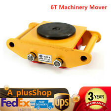 Heavy Duty Machine Dolly Skate Roller Machinery Mover 6T 13200lb Rotation Cap Us
