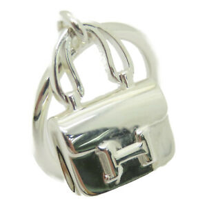 Hermes Amulettes Constance Ring Silver 925 US#5 Hermes#50