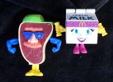 Happy Meal Food Fundamentals T-Bone STEAK  & MILK Toys 1992 McDonald's Go-Bot