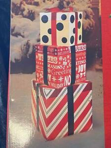 3pc Light Christmas Gift Boxes~Indoor/Outdoor~New~Yard Decor NEW