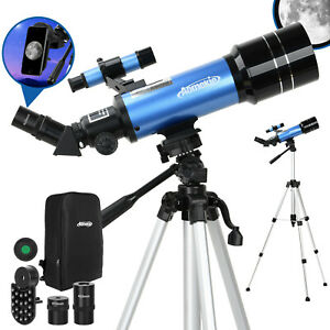 70/400 Teleskop Astronomie Kinder Einsteiger mit Handy Adapter Stativ Rucksack