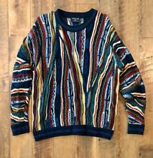 VTG Fiordland 3D Textured Cosby Biggie WOOL Sweater L/XL