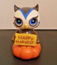 Solar Powered Dancing Happy Harvest Owl Thanksgiving New Free Shipping