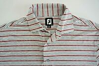 MENS Footjoy SHORT SLEEVE Golf POLO SHIRT SIZE LARGE MULTICOLOR STRIPES