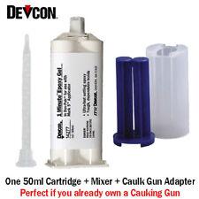 Devcon 1-Min Epoxy-14277-Fast-Set General Purpose-50ml Caulk Gun Adapter