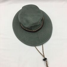 Nordic Gear Snake River Venture Hat Cotton Wide Brim Size S/M Strap Travel Fish