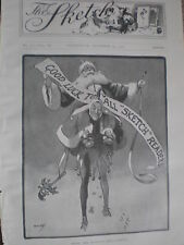 Good luck to all Sketch Readers 1902 old print father christmas ref W2