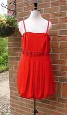 SIZE 16 Red Puffball / Balloon Hem Party Dress TEATRO