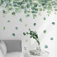 Green Foliage Leaves Botanical Wall Sticker Nursery Decor Decal Art Mural Gift