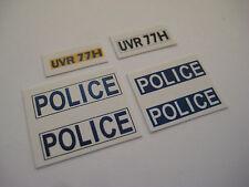 Dinky 255 - Ford Zodiac  Police Car Stickers - B2G1F
