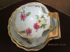 FLORAL CLAMSHELL DIshes Set of 3 BERKSHIRE FINE CHINA OCCUPIED JAPAN