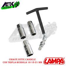 Chiave Svita candela snodabile a T con Bussole 16+21+18 mm per auto Moto Scooter
